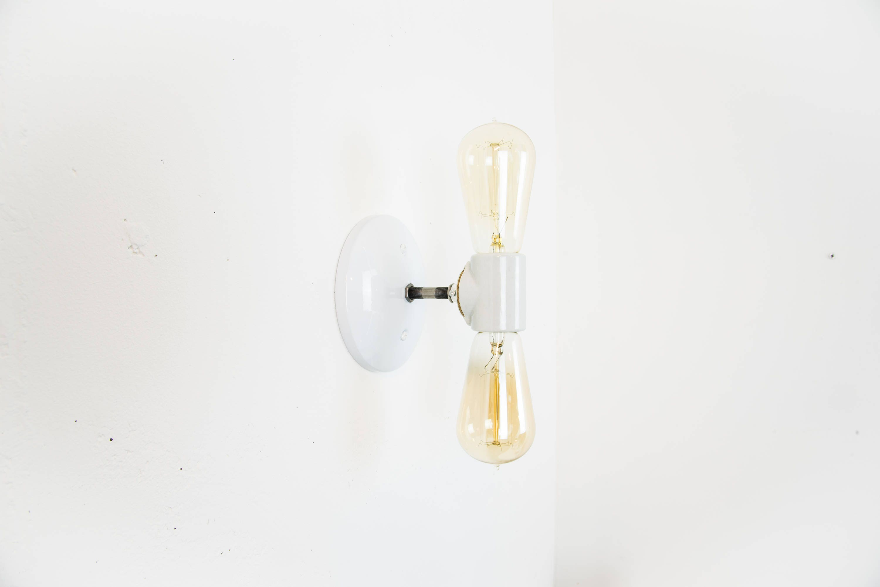 sconces wall lighting. White Wall Sconce - Lamp Industrial Modern Light Plug In Sconces Lighting Accent Double D