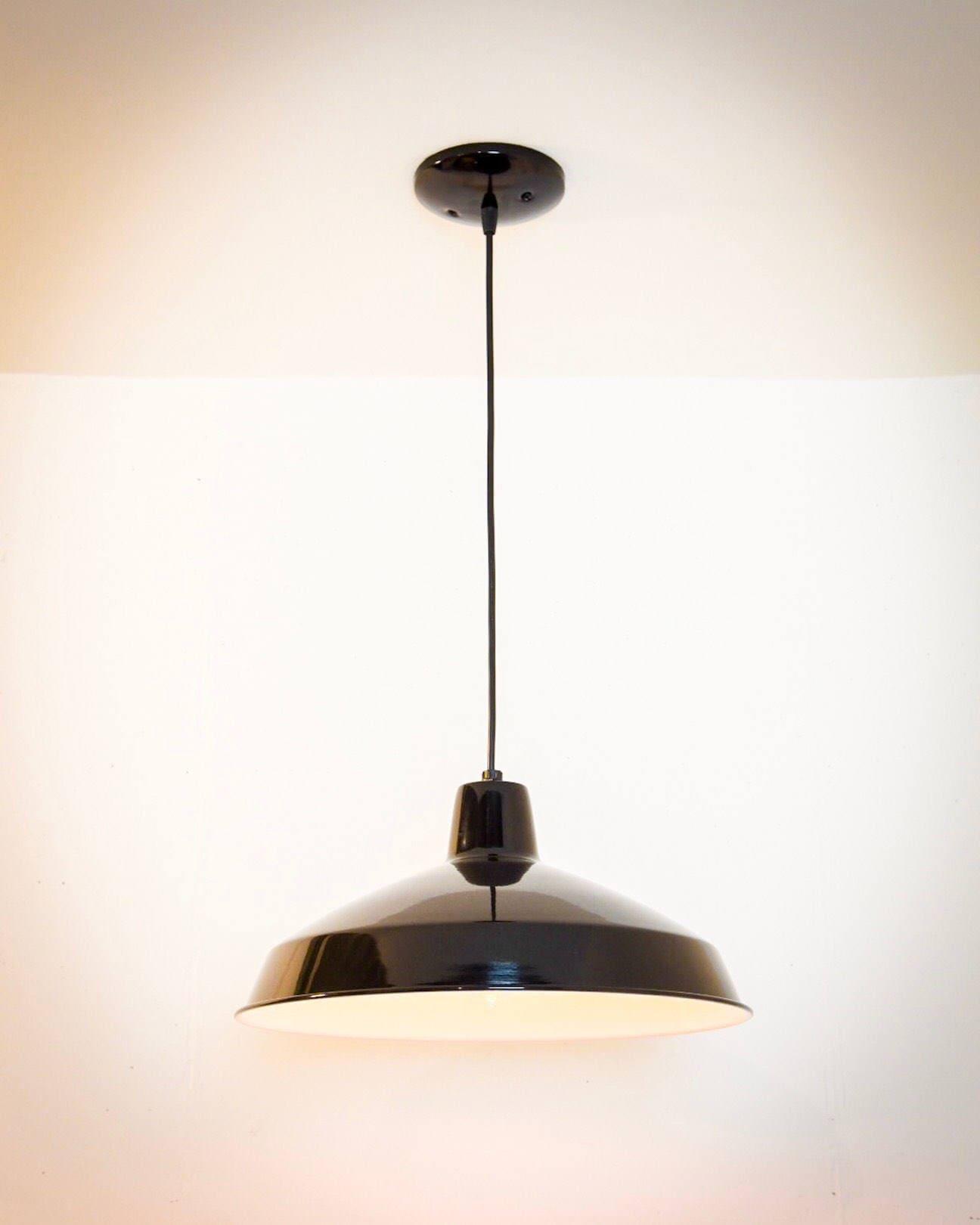 c1fc7ea3b20 Black Barn Light - Barn Pendant Light - Industrial Pendant Light - Vintage  Style Lighting - Barn Ceiling Lamp - Barn Lamp - Rustic Light