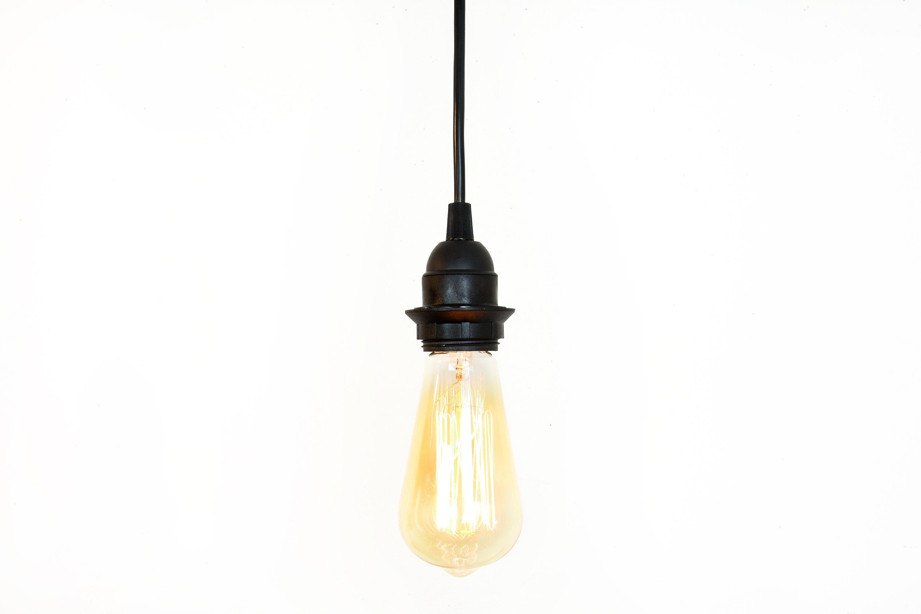 Bare Bulb Hanging Pendant Lights 2 wiresNjars