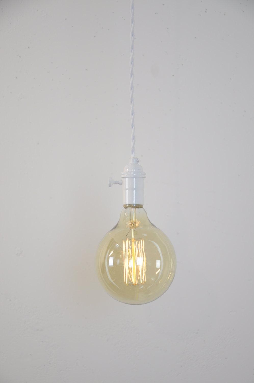 Weiße Anhänger-Licht Lampe Plug In Anhänger Küche | Etsy