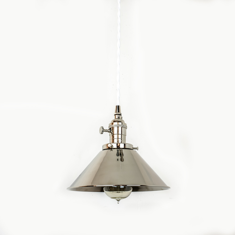 Mid Century Light Pendant Light Nickel Plug In Lamp Modern Hanging Light Fixture Kitchen Lights