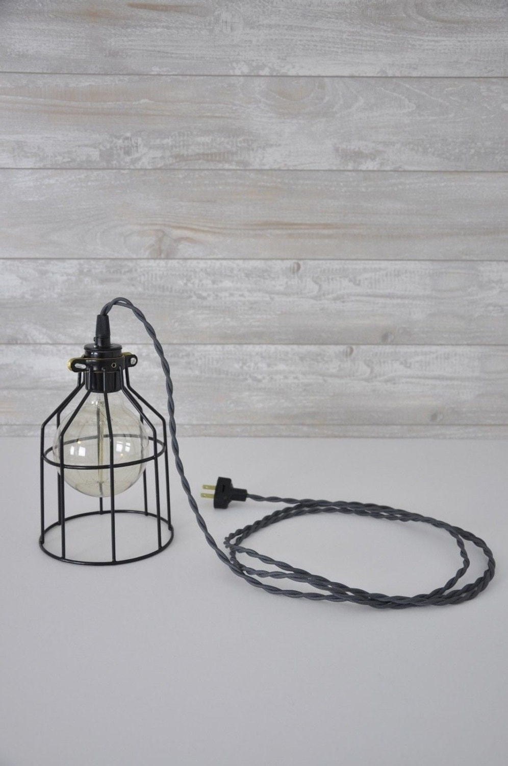 Cage Pendant Light Metal Bulb Guard Hanging Lights Drop Wiring A Plug To Fixture Industrial Lighting Edison Lamp In
