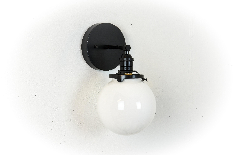 Globe vanity light black bathroom lights vanity lighting wall lamp wall sconce black and white modern light fixture