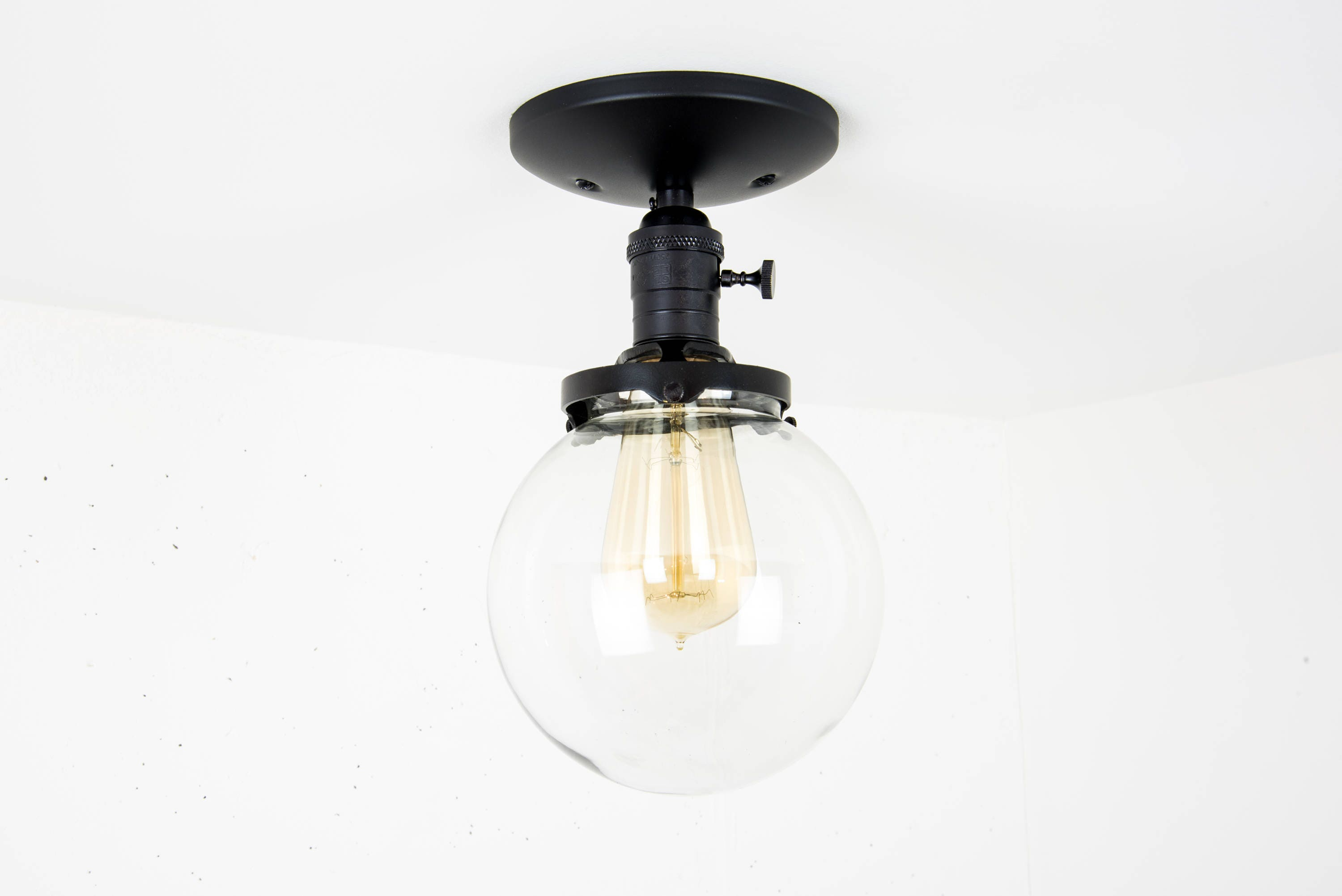 Globe ceiling light black light fixture ceiling mounted flush globe ceiling light black light fixture ceiling mounted flush mount glass globe light modern ceiling light semi flush mount lamp mozeypictures Image collections