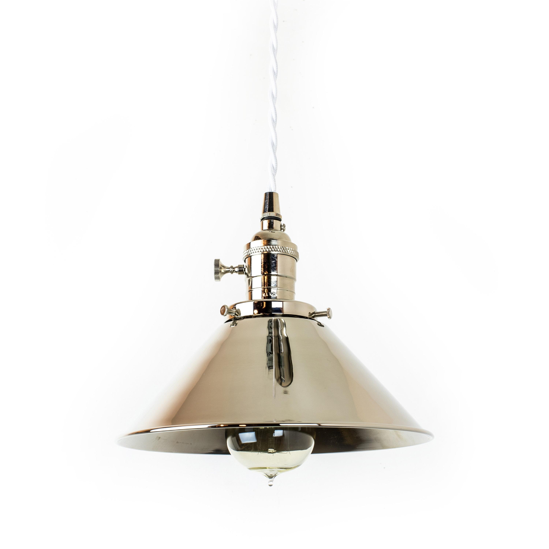 Nickel Plug In Lamp