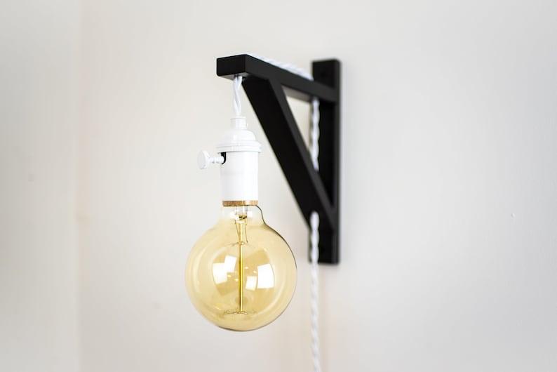 Blanc applique murale sur laiton lampe industriel rétro etsy