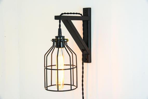 New De stekker In de muur schans lamp Guard licht gloeilamp   Etsy #OB17