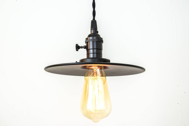 Industrial Lighting - Black Pendant Lights - Farmhouse Light - Flat ...