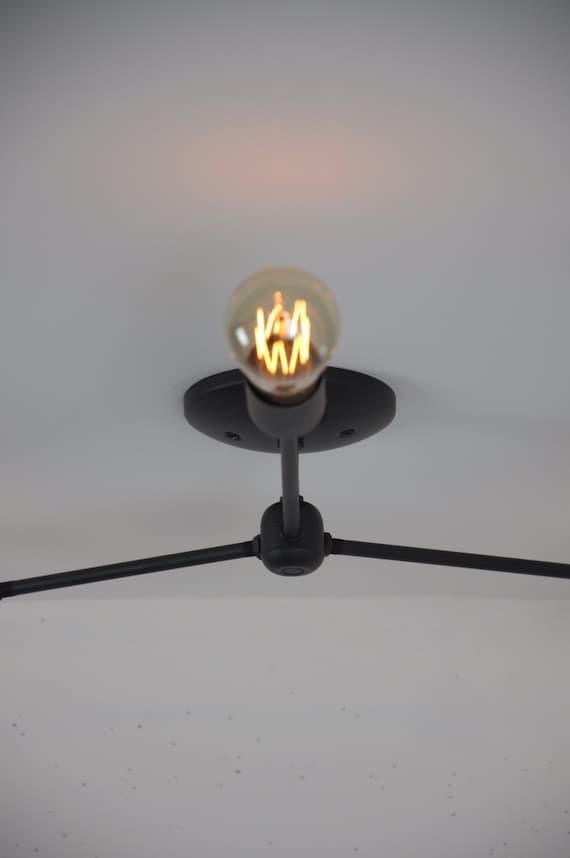 Ceiling Mounted Light Fixture Flush Mount Light Matte Black | Etsy