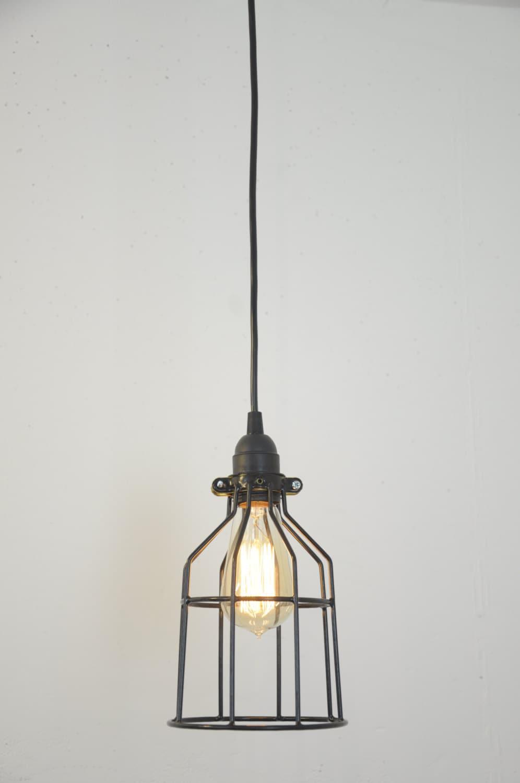 Industrial Light - Pendant Light - Hanging Lamp - Bulb Guard - Cage ...