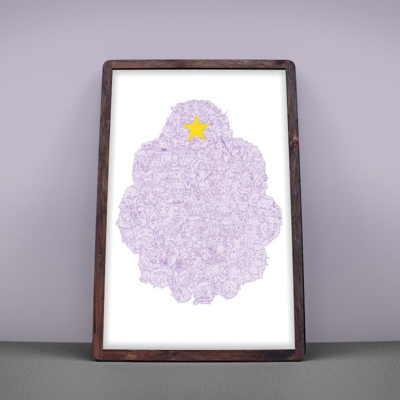 LSP  Lumpy Space Poster Adventure Time Poster Silkscreen image 0