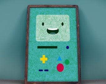 "BMO -Adventure Time Poster, 18x24"", Art Print"