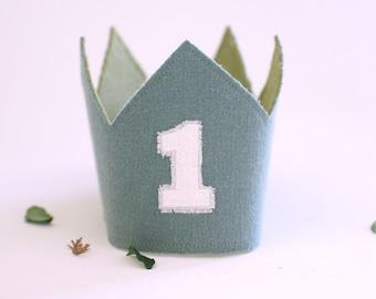 1st Birthday Crown-  Olive Green Boho Birthday crown boy- Birthday Boy outfit-safari theme -wild one outfit boy- 1st Birthday Crown Boy