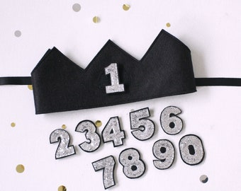Re usable Number Birthday Crown Felt - Full set 0-9  or Choose your own Numbers  - Felt party hat- Personalised Gift - Family Birthday Crown