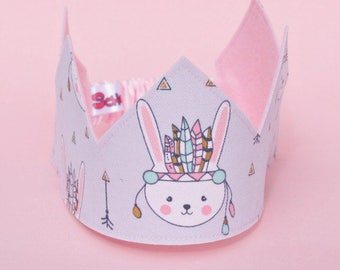 Birthday Crown  - Boho Birthday outfit -Boho Crown - Boho birthday - Boho Party - Birthday hat - Party Hat - Kids Crown - Kids Costume