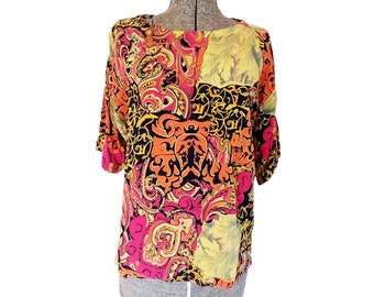Vintage 1990s Koala Internat'l Clothing Co. Rayon Abstract Print Shirt (S)