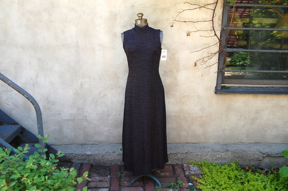 Vintage 1990s Ronni Nicole Black & Silver Stretchy