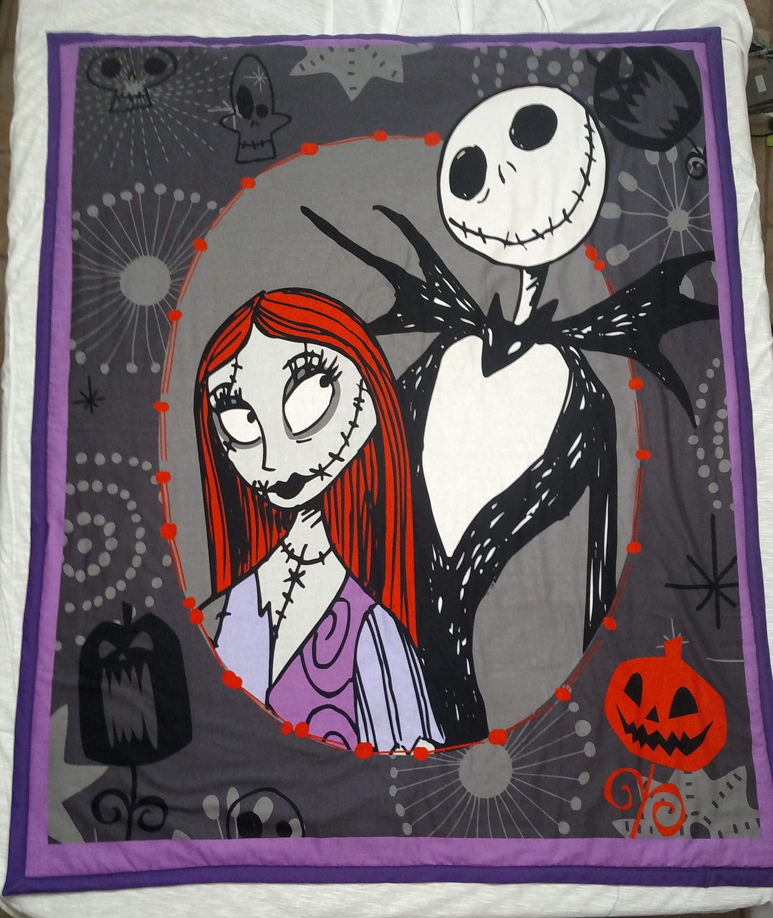 NightMare Before Christmas Blanket | Etsy