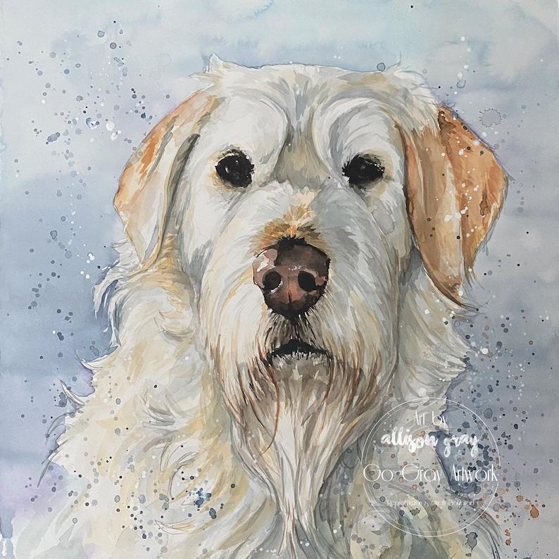 Custom Natural Tone Painted Pet Portrait  Personalized image 0
