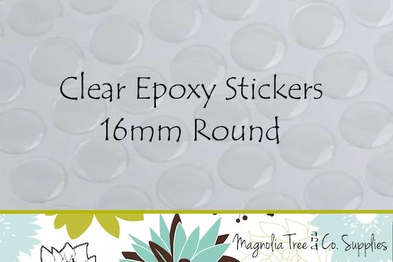 200PCS 25mm Square Transparent Epoxy Domes Resin Cabochon Sticker C1907