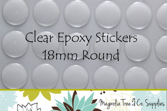 FREE SHIPPING Circle Domes Dots Seals 20mm Round Clear Epoxy Stickers