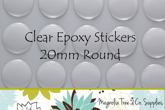 FREE SHIPPING 50mm Round Clear Epoxy Stickers Circle Domes Dots Seals