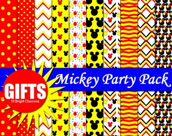 Mickey Mouse Digital Paper Minnie And Mickey Party Decor Mickey Ears Mickey  Mouse Birthday Mickey Mouse Clubhouse Mickey Mouse Invitation