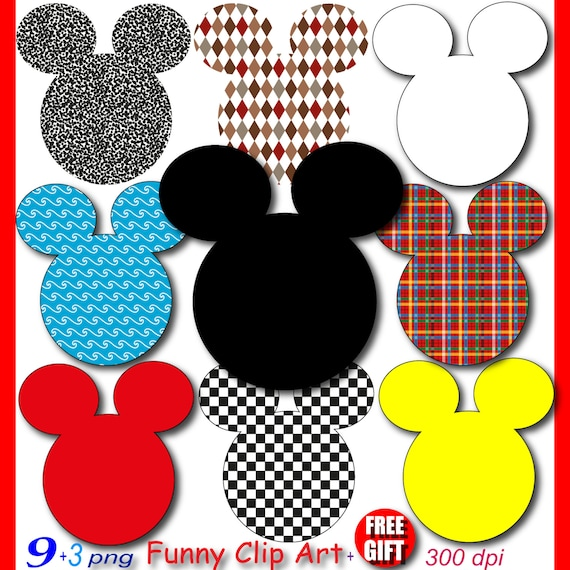 mickey mouse party digital clipart minnie mouse clubhouse scrapbook rh etsystudio com
