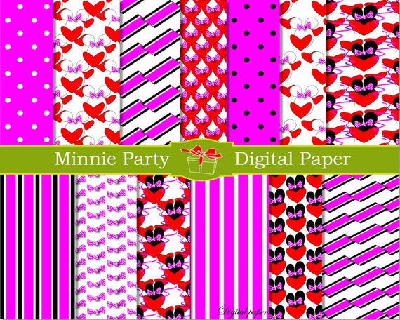 Minnie And Mickey Mouse Birthday Party Decorations  from i.etsystatic.com