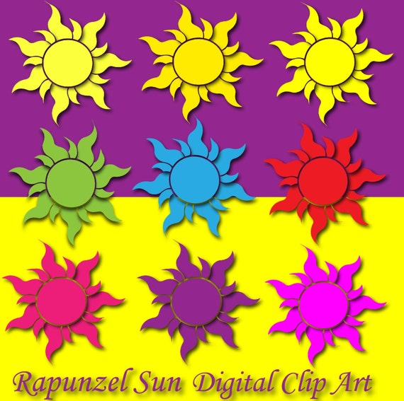 Rapunzel Sun Clipart Tangled Sun Decor Rapunzel Birthday Rapunzel