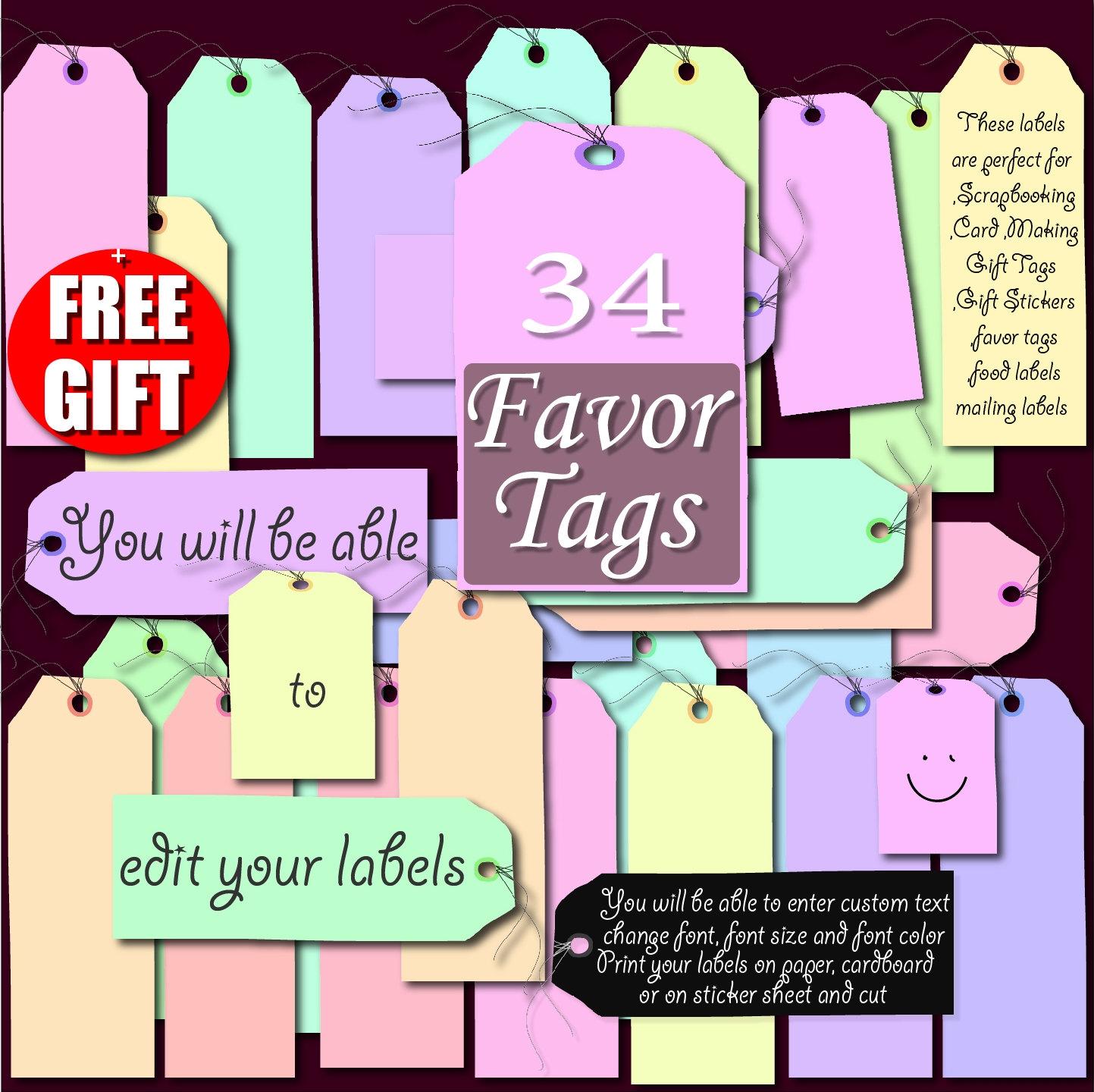 Aufkleber Digital Label ClipArt bedruckbare Aufkleber Pack Tag | Etsy