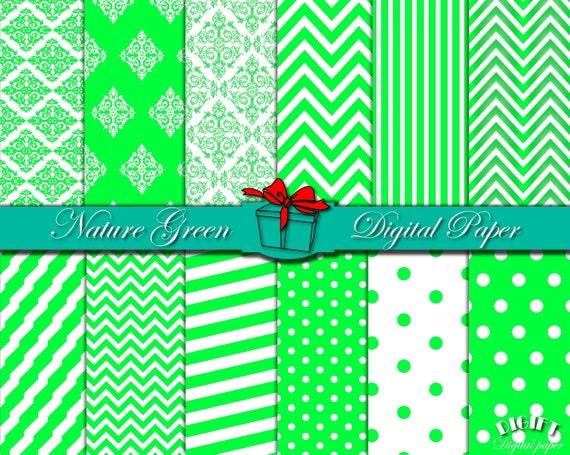 Grass Green digital paper Nature Green print Green damask Green chevron Green party decor Green wall art Green paper Green Grass clip art