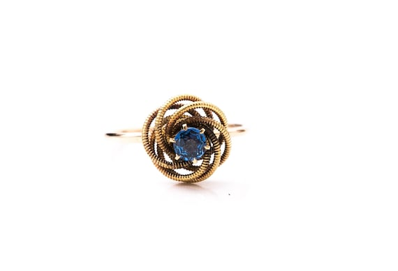 Vintage Blue Sapphire Ring - Stick Pin to Ring Con