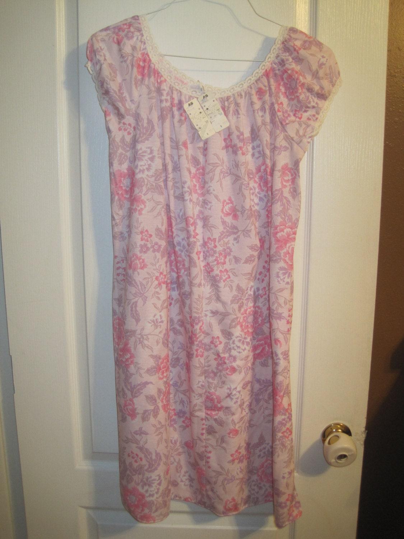Ladies Vintage 70\'s Nightie Moo Moo Night Gown Grandma | Etsy