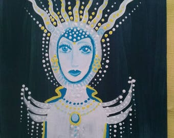 Ice Queen 10x8 painting