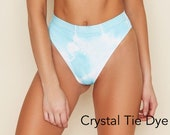 Seamless High Waist Banded High Cut Cheeky Bikini Bottom, Swimwear Bottom, Swimsuit, Bathing Suit, High Waist Swimwear Bottom