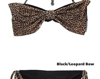 Girls' Bow Bandeau Bikini, Toddler Swimwear, Girls' Swimwear, Swimsuit, Bathing Suit, Bikini for Girls, Bikini Top and Bottom