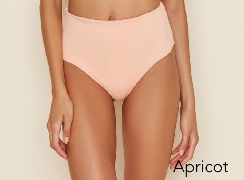 46d33063dc1 Seamless Moderate Coverage High Waist Bikini Bottom | Etsy