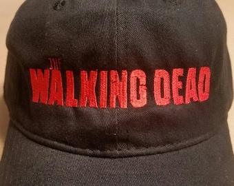f09c0ba5034 Mens adjustable custom black hat - The Walking Dead - embroidered