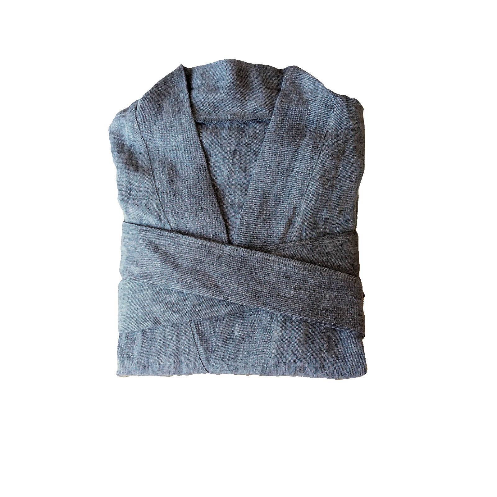 ca8db566b7 Vestito grigio di lino Accappatoio kimono di lino | Etsy