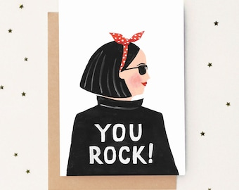 You Rock! Friendship Card  sc 1 st  Etsy & Unique gift ideas for her | Etsy