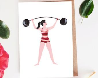 Strongwoman Blank Card