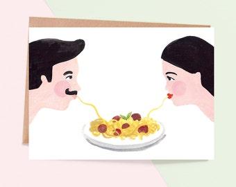 Spaghetti Love Greeting Card