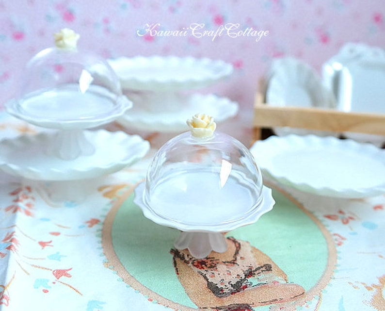 Stand display flower plate Miniature Blythe Doll