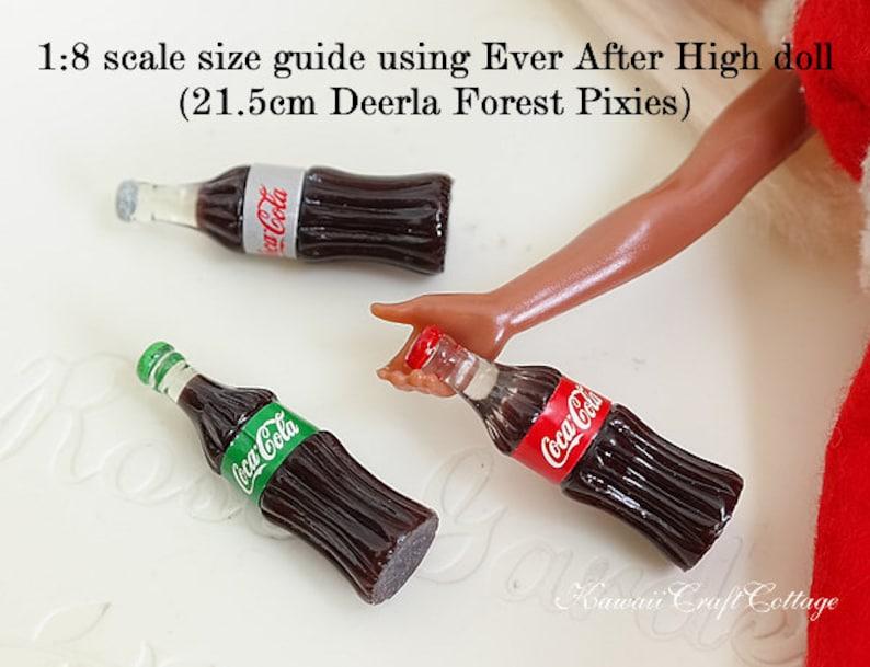 Miniature Coke Bottles Coca Cola Soda Miniature Dollhouse Beverage Drinks  Mini Coke Fairy Dolls Fake Food DIY Jewelry 1:6, 1/12, 1/8 scale