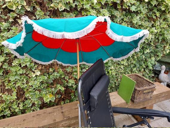 Vintage Retro Italian Beach Chair Parasol Continen