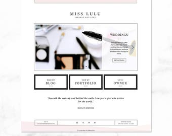 Website template etsy wix website template lulu makeup artistry incl logo and business card fbccfo Image collections
