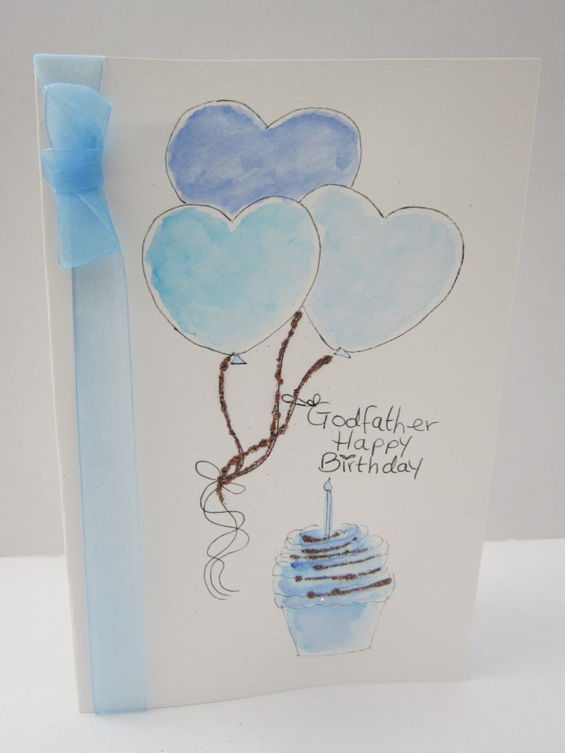 Godfather Card Birthday Watercolour Special