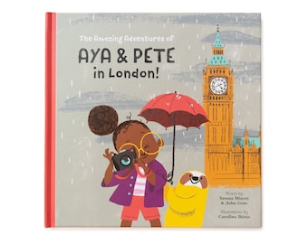 Book - Aya & Pete in London! - customised children's present