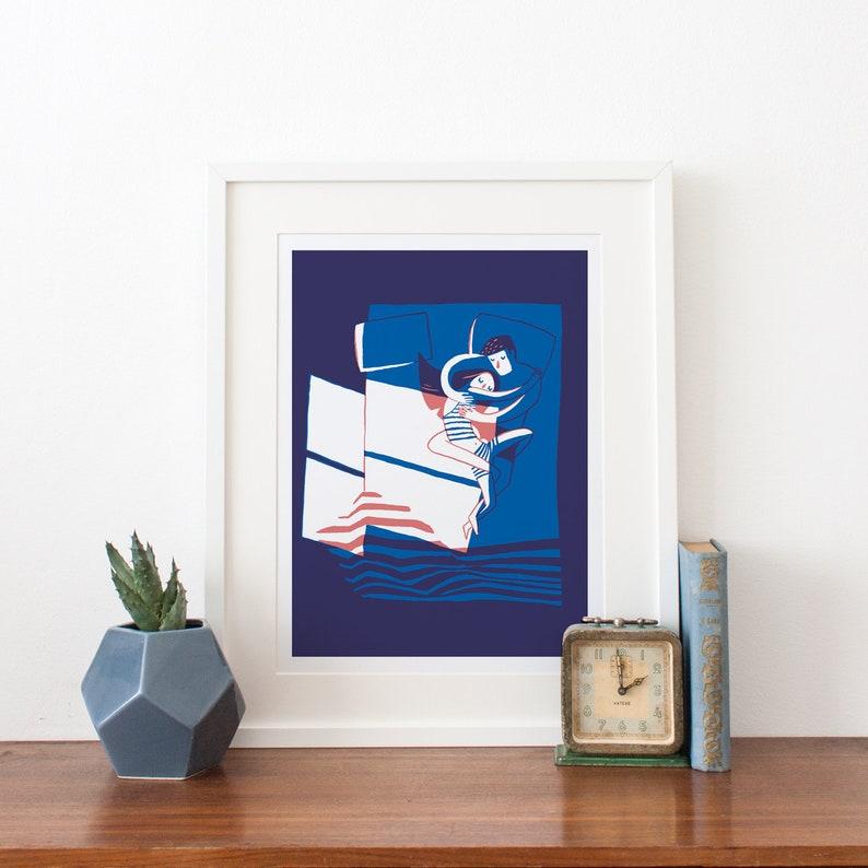 Big Art Print  Couple in Bed 30x40 cm